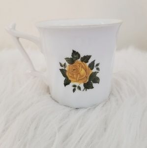 Other - Vintage yellow floral teacup made in Germany.